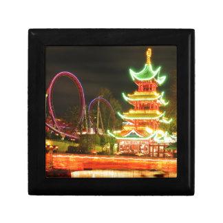 Chinese pagoda at night gift box