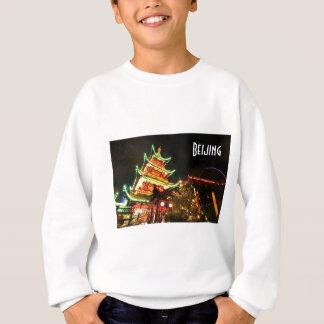 Chinese pagoda at night sweatshirt