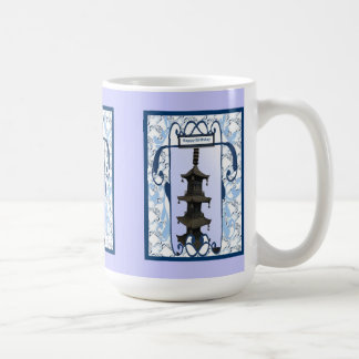 Chinese pagoda model with bells classic white coffee mug