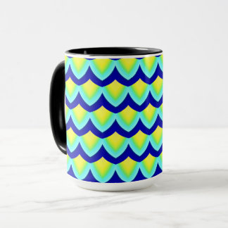 Chinese Paper Dragon Coffee Mug Blue/Yellow