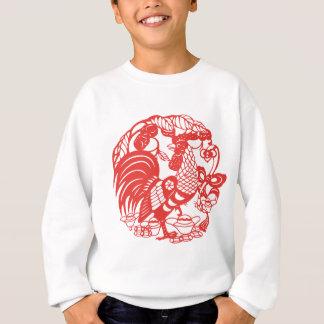 Chinese Papercut Rooster Year 2017 Kids W Sweat Sweatshirt