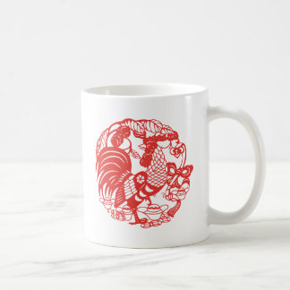 Chinese Papercut Rooster Year 2017 mug 2
