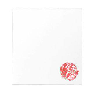 Chinese Papercut Rooster Year 2017 notepad