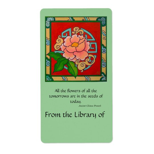 Chinese Peony Book Plate