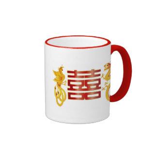 Chinese Phoenix Dragon Pair Mug