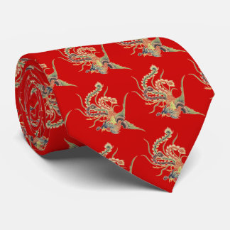 Chinese Phoenix - Fenghuang  Mythological Birds Ar Tie