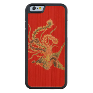 Chinese Phoenix - Fenghuang  Mythological Birds Carved Cherry iPhone 6 Bumper Case