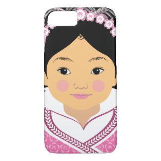Chinese Pink HanFu Girl Matryoshka Case