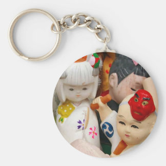 Chinese porcelain dolls key chains