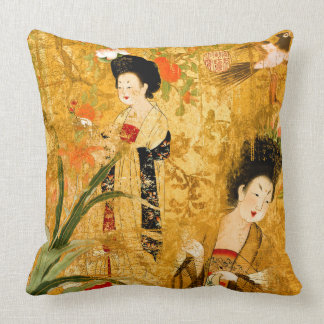 """Chinese princesses in the garden Pillow 20"""" x 20"""""""