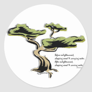 Chinese Proverb Classic Round Sticker