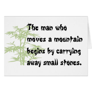 Chinese proverb notecards card