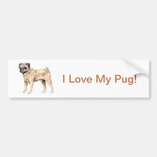Chinese Pug Bumper Sticker