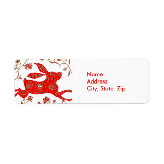 Chinese Rabbit Astrology Avery Label
