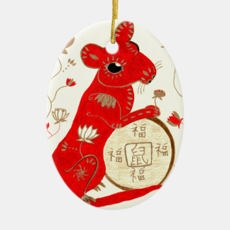 Chinese Rat Astrology Ornament