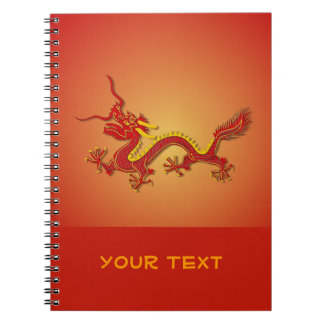 Chinese Red And Gold Dragon Notebook