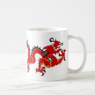 CHINESE RED DRAGON COFFEE MUGS