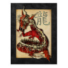 Chinese Red Dragon Postcards