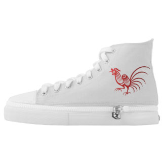 Chinese Red Rooster High Tops
