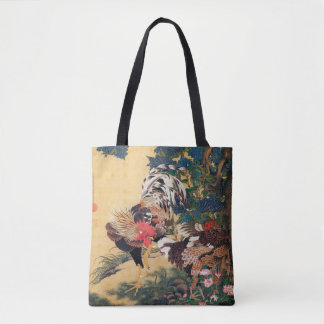 Chinese Rooster New Year 2017 Japanese painting B Tote Bag