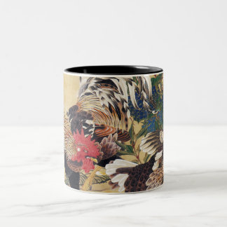 Chinese Rooster New Year 2017 Japanese painting M Two-Tone Coffee Mug