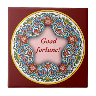 Chinese round pattern good fortune ceramic tile