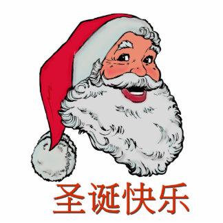 Chinese Santa Claus Photo Sculpture Decoration