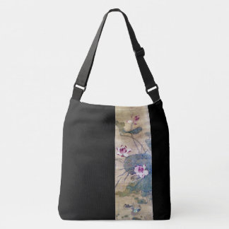 Chinese Scroll Art Lotus Flowers Ducks Tote Bag