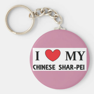 chinese shar love key ring