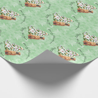 Chinese Shar-Pei and Christmas Tree Wrapping Paper