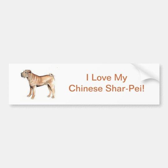 Chinese Shar Pei Bumper Sticker Zazzle Com Au