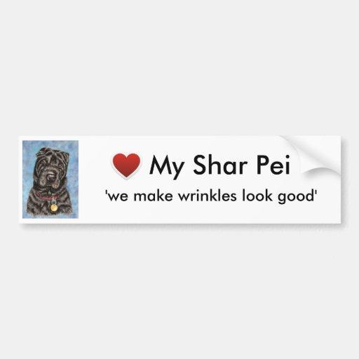 Chinese Shar-Pei Dog Art - Tia Bumper Stickers