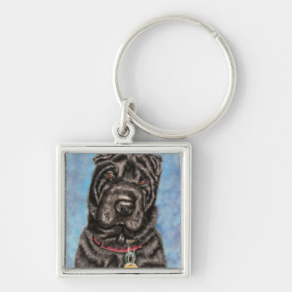 Chinese Shar-Pei Dog Art - Tia Key Ring