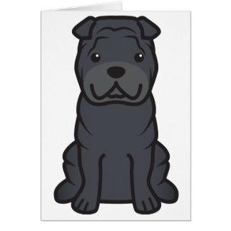 Chinese Shar-Pei Dog Cartoon Card
