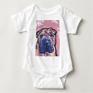 Chinese Shar Pei Dog Pop Art Baby Bodysuit
