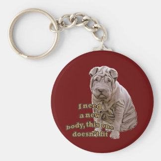 Chinese shar Pei Key Ring