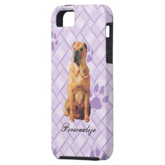 Chinese Shar-Pei on Lavendar Weave w/pawprints iPhone 5 Covers