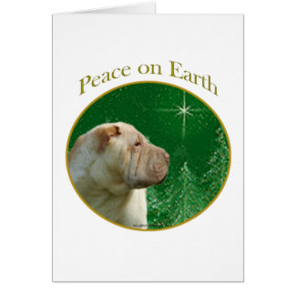 Chinese Shar-Pei Peace Card
