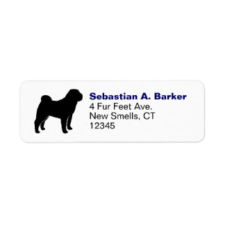 Chinese Shar-Pei Silhouette Return Address Label