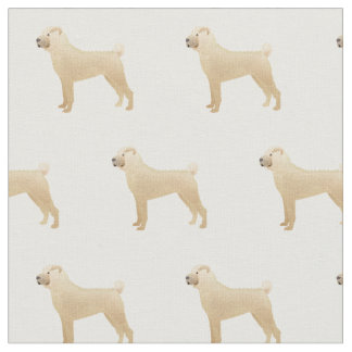 Chinese Shar-Pei Silhouette Tiled - Basic Fawn Fabric