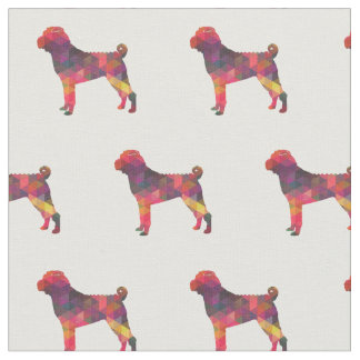 Chinese Shar-Pei Silhouette Tiled - Multi Fabric