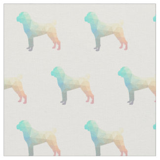 Chinese Shar-Pei Silhouette Tiled - Pastel Fabric
