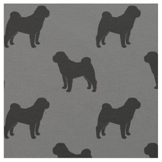 Chinese Shar-Pei Silhouettes Pattern Fabric