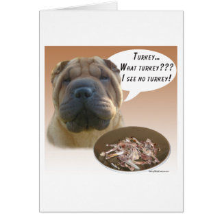 Chinese Shar Pei Turkey Card