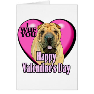 Chinese Shar-pei Valentines Day Card