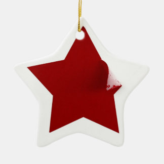 Chinese Star - quirky peeling design Ceramic Star Decoration