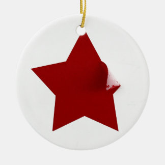 Chinese Star - quirky peeling design Christmas Ornaments