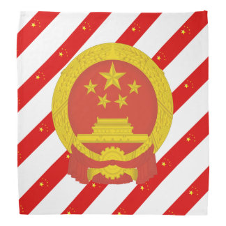 Chinese stripes flag bandana