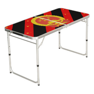 Chinese stripes flag beer pong table