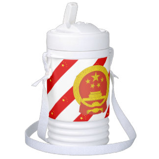 Chinese stripes flag drinks cooler